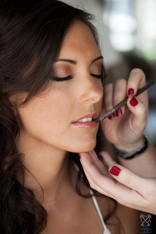Beautiful Lip Application Mobile Makeup Services in South Florida