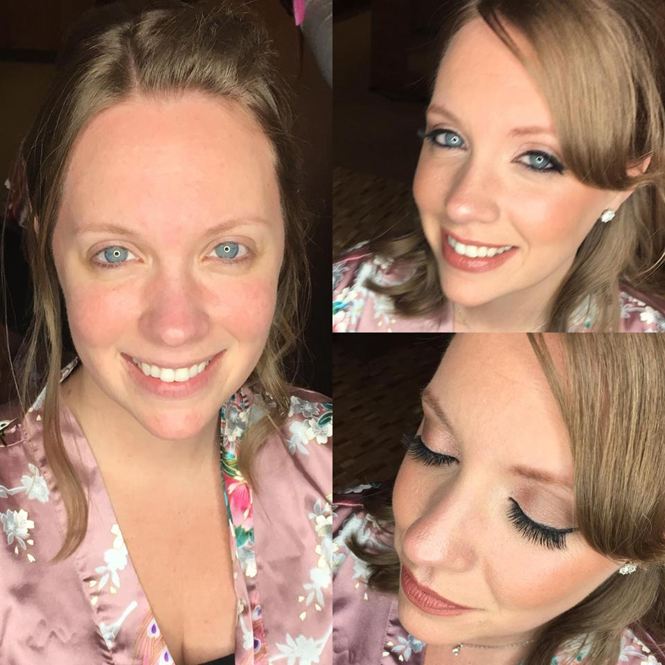 Before and After Wedding Makeup Service South Florida